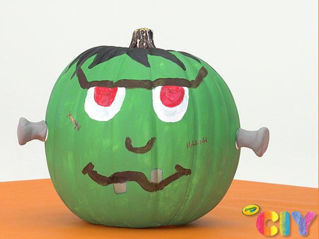 Frankenstein Pumpkin Painting Idea Crafts Crayola Com Crayola Ciy Diy Crafts For Kids And Adults Crayola Com