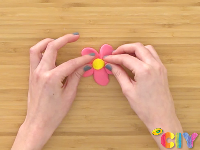 Flower Pencil Toppers Step 3