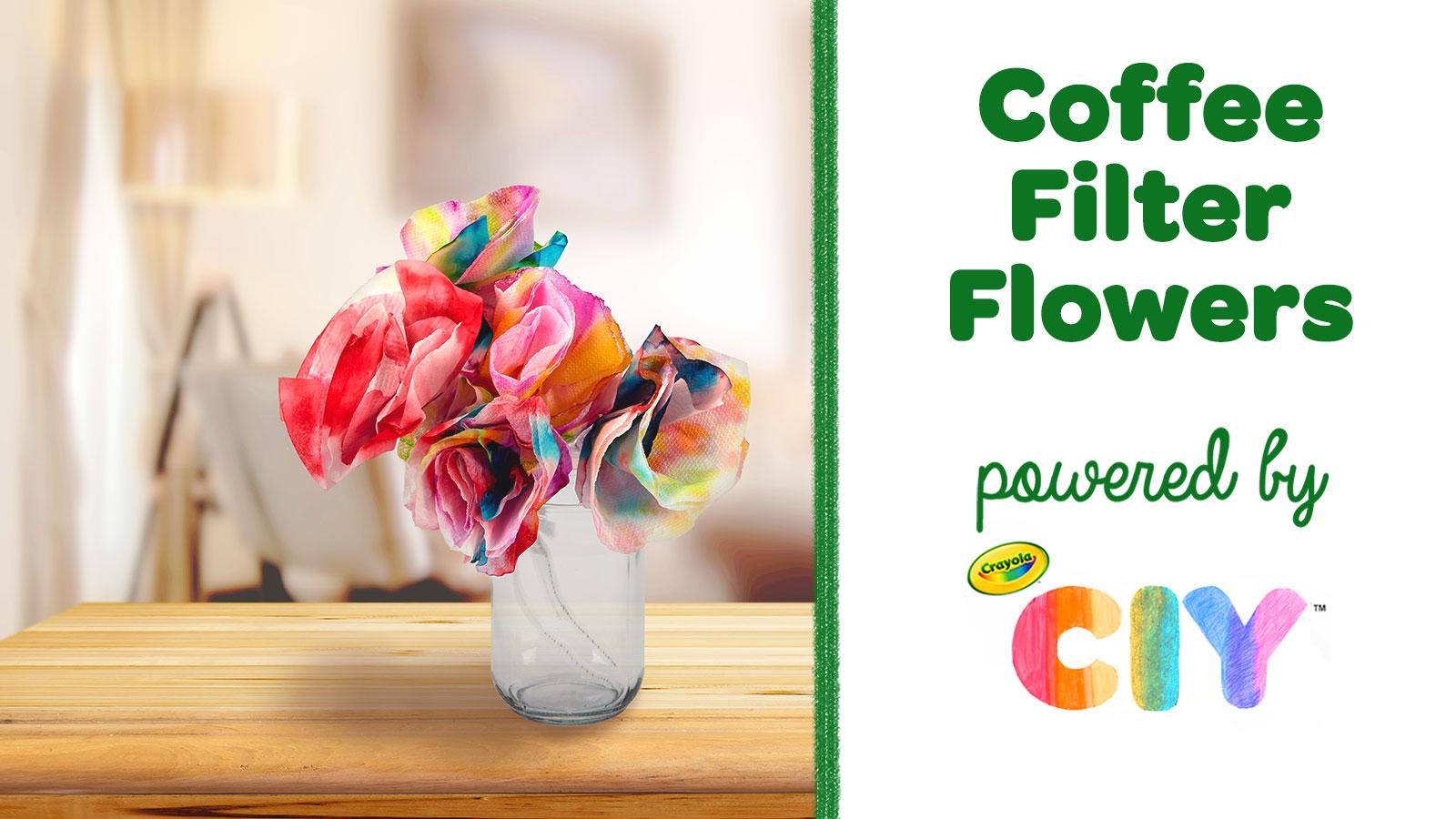 Coffee Filter Flowers Crafts Crayola Com Crafts Crayola Com