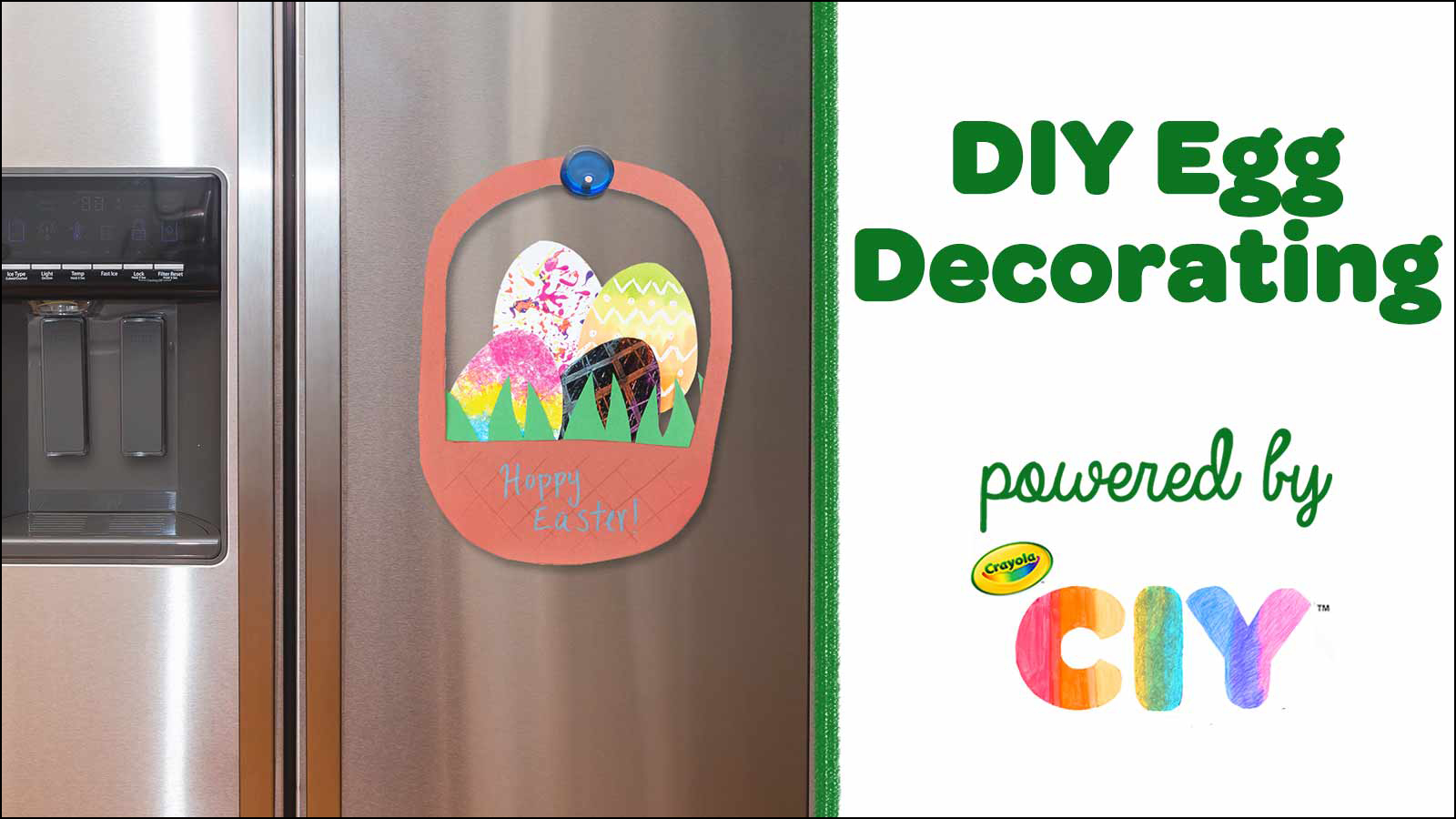 DIY Egg Decorating CIY Video Poster Frame
