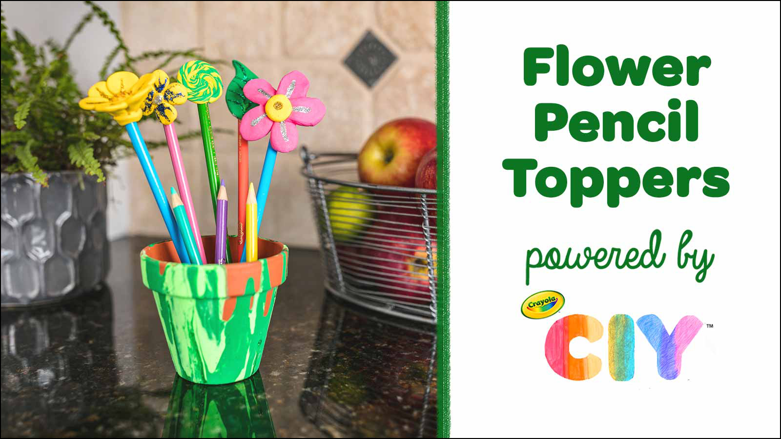 Flower Pencil Toppers CIY Video Poster Frame
