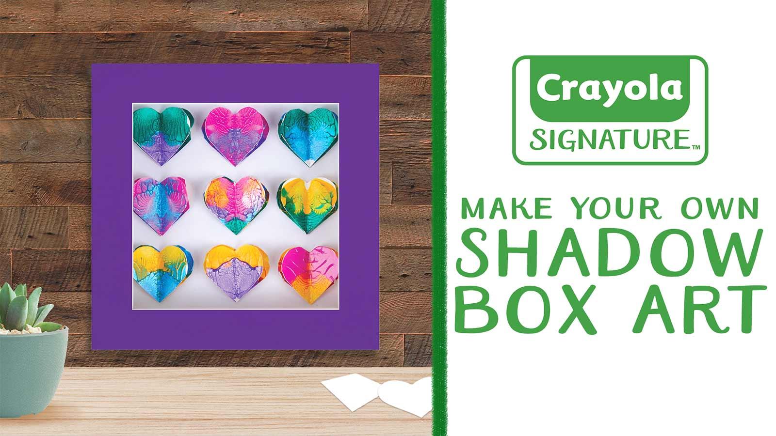 Signature Diy Shadow Box Frame Crafts Crayola Com Crayola