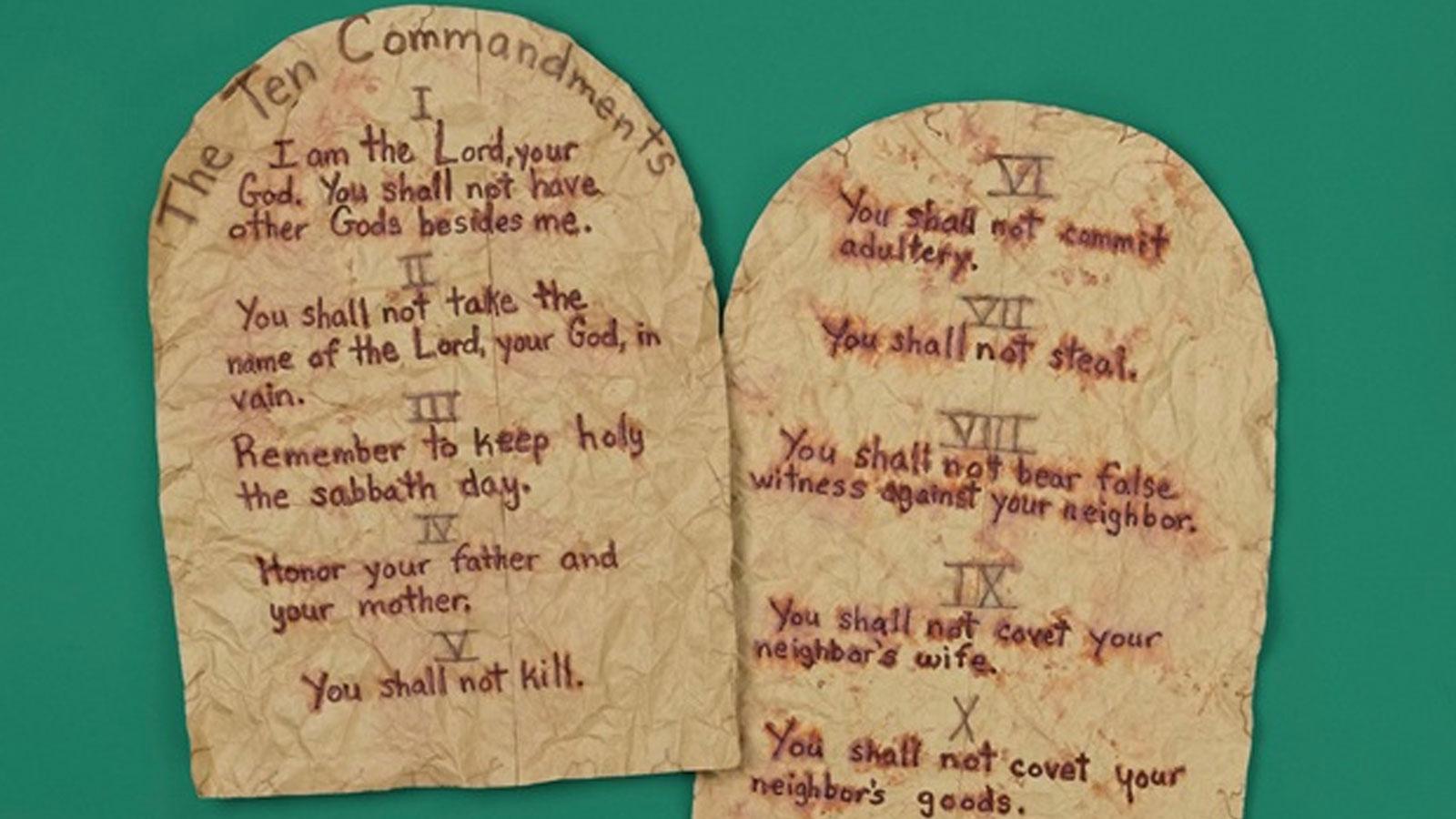 image about Printable Ten Commandments Tablets identify 10 Commandments Drugs