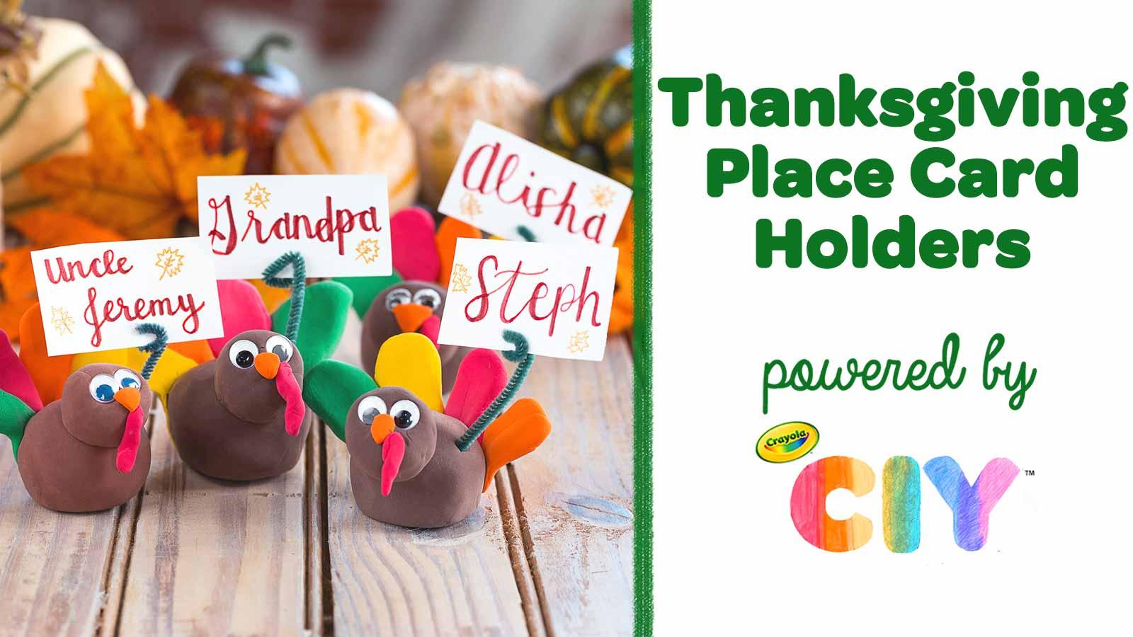 Diy Thanksgiving Place Card Holders Crafts Crayola Com Crayola Ciy Diy Crafts For Kids And Adults Crayola Com