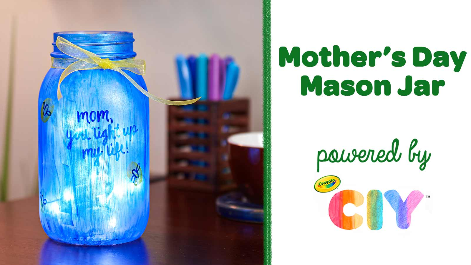 Diy Mother S Day Mason Jar Craft Crafts Crayola Com Crayola Ciy Diy Crafts For Kids And Adults Crayola Com