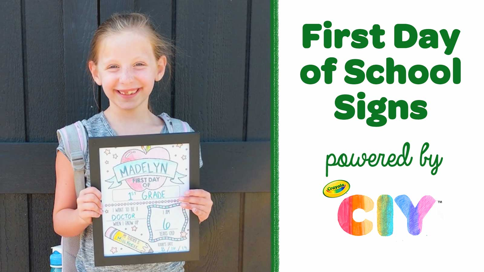 First Day of School Signs_Poster Frame