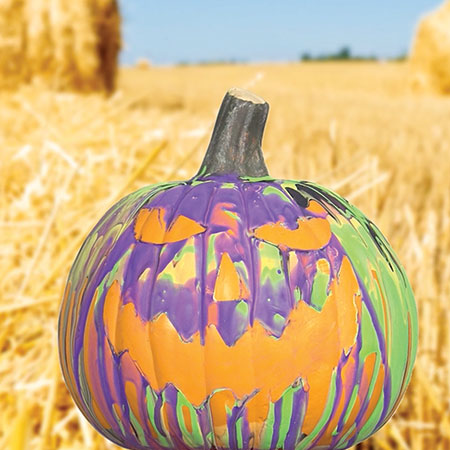 Drip Art Pumpkin