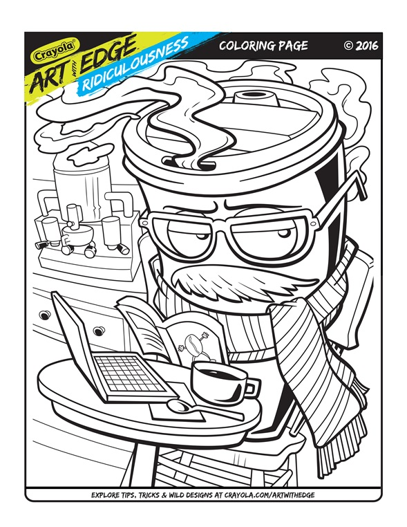 Art With Edge Ridiculousness Coloring Page | crayola.com