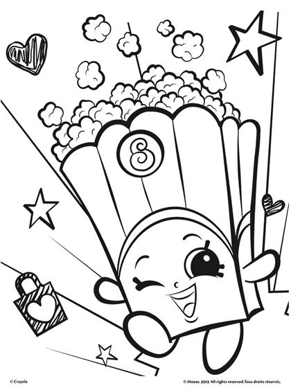 Shopkins, Poppy Corn Coloring Page | crayola.com