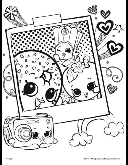 Shopkins Selfie Coloring Page