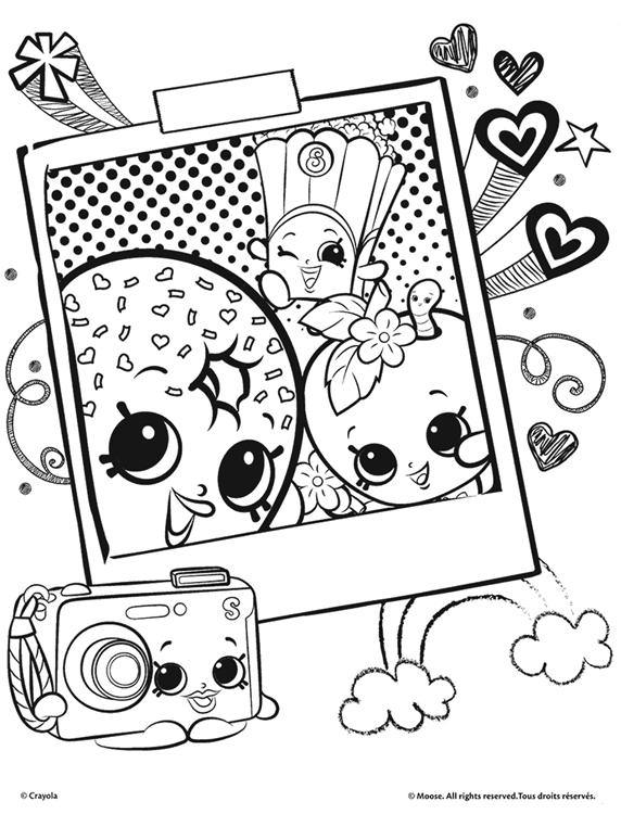 Shopkins, Shopkins Selfie Coloring Page | crayola.com