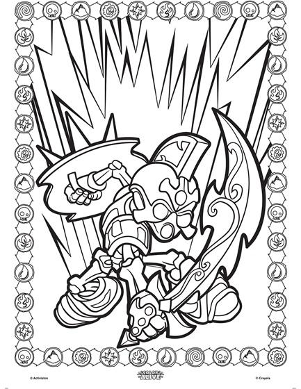 Color Alive Skylanders - Chop Chop Coloring Page | crayola.com