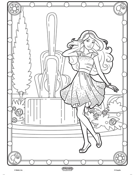 Color Alive Barbie Coloring Page Crayola Com