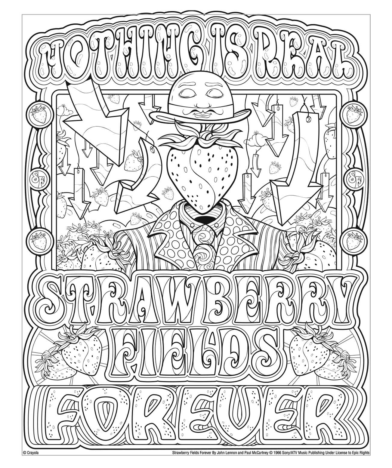 Lennon And McCartney Strawberry Fields Crayola.com