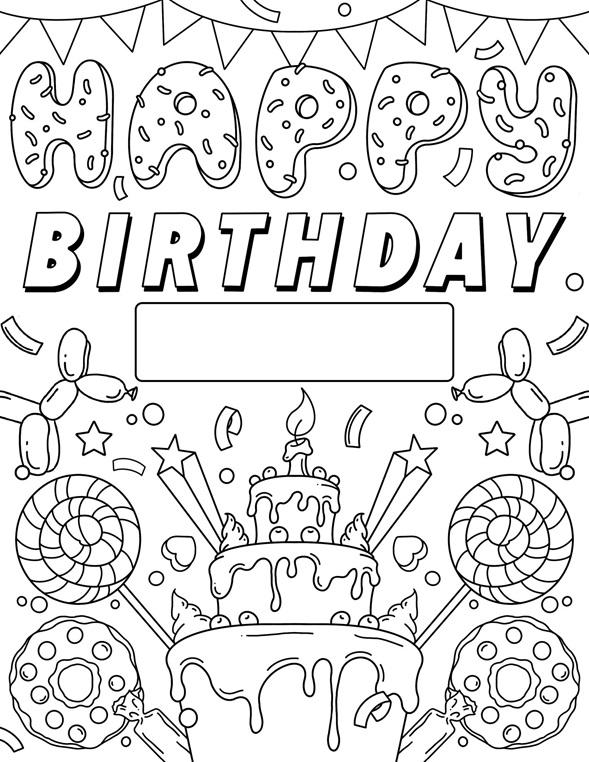 Happy Birthday Sign | crayola.com