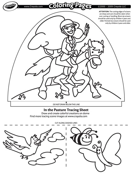 In The Pasture coloring page