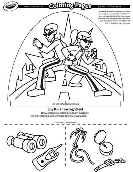 Dome Light Designer - Spy Kids Coloring Page | crayola.com