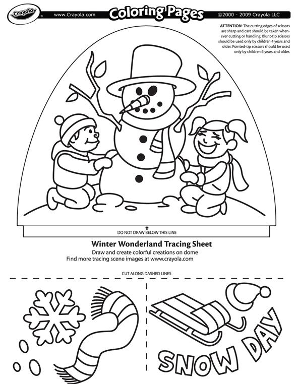 Dome Light Designer Winter Wonderland Coloring Page Crayola Com