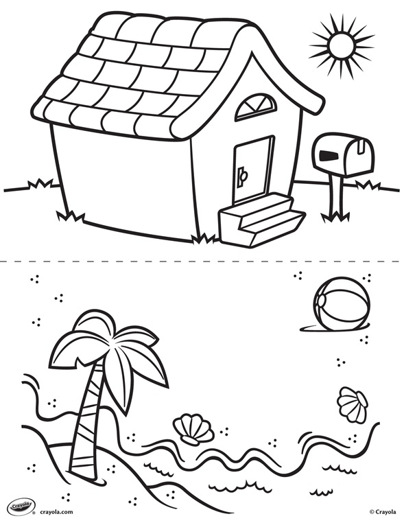 crayola coloring pages summer beach - photo#21