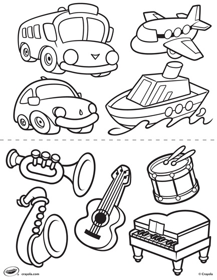 All Animals Playing Musical Instruments Together coloring page ... | 560x433
