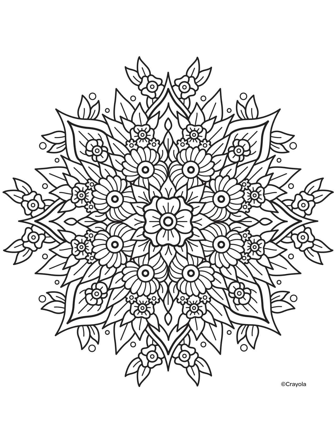 Flower Mandala Crayola.com