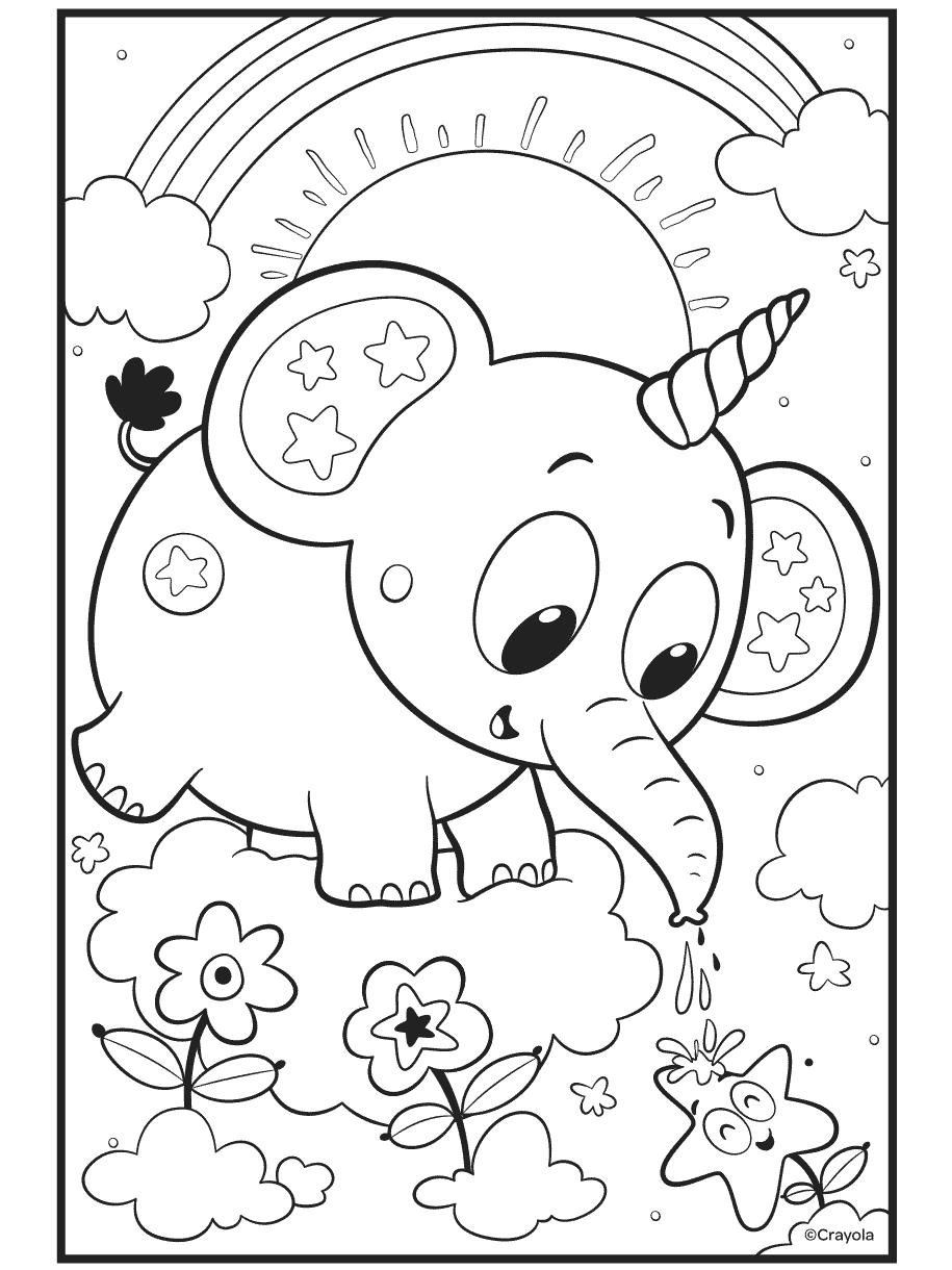 Uni-Creatures Unicorn Elephant Crayola.com