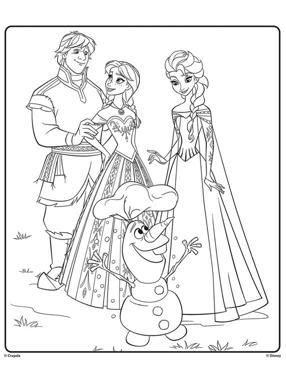 Anna Elsa Olaf Frozen 1 Free Coloring Pages Crayola Com Crayola Com