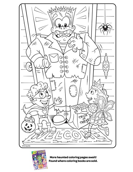 Halloween Frankenstein Coloring Page Coloring Page ...