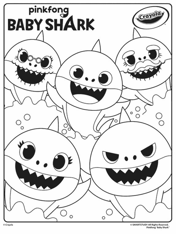 Baby Shark Coloring Page Crayola Com