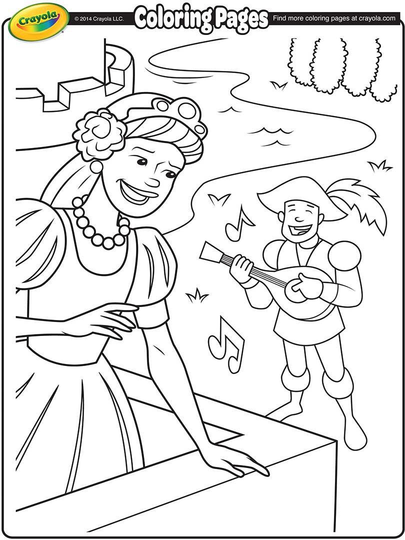 Princess Coloring Page Crayola.com