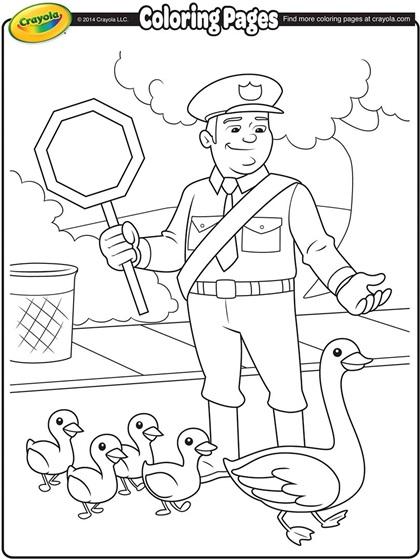 cop coloring pages Traffic Cop Coloring Page | crayola.com cop coloring pages