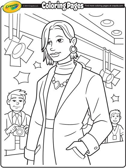 Runway Model Coloring Page