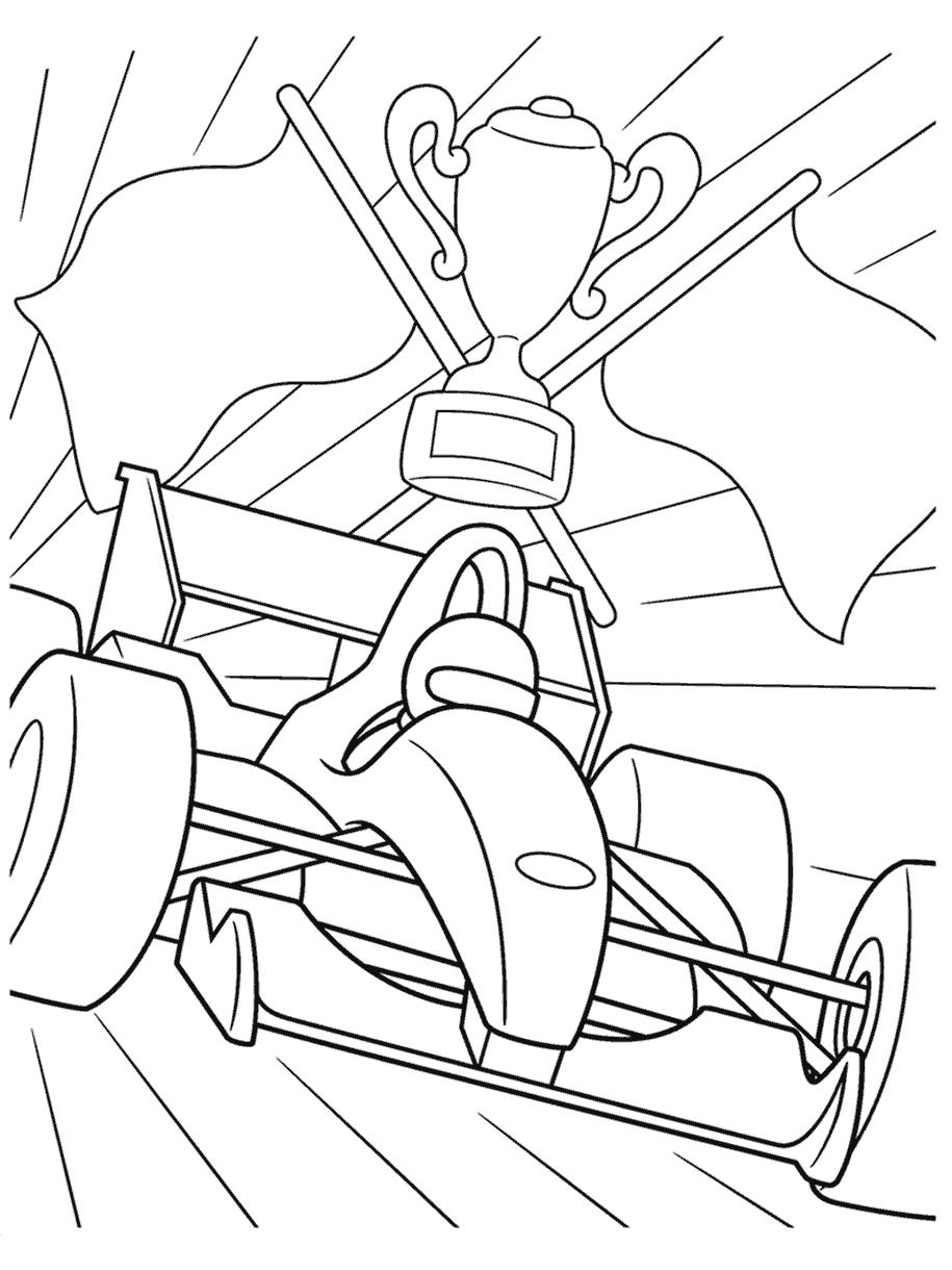 formula 1 racecar coloring page