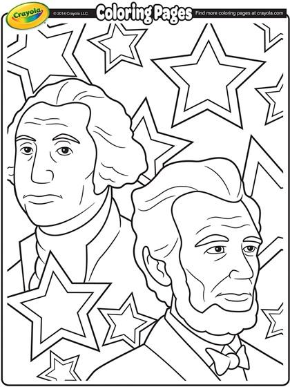 George Washington and Abraham Lincoln Coloring Page | crayola.com