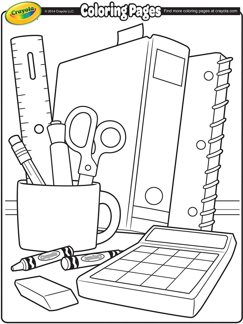 - School Supplies Coloring Page Crayola.com