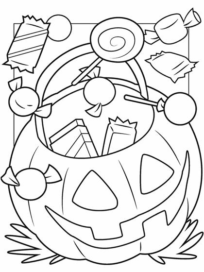 Halloween Treats Coloring Page Crayola Com