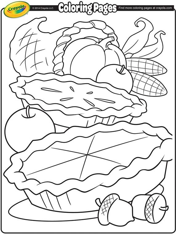Cornucopia Coloring Page | crayola.com