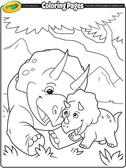 Triceratops Coloring Page | crayola.com