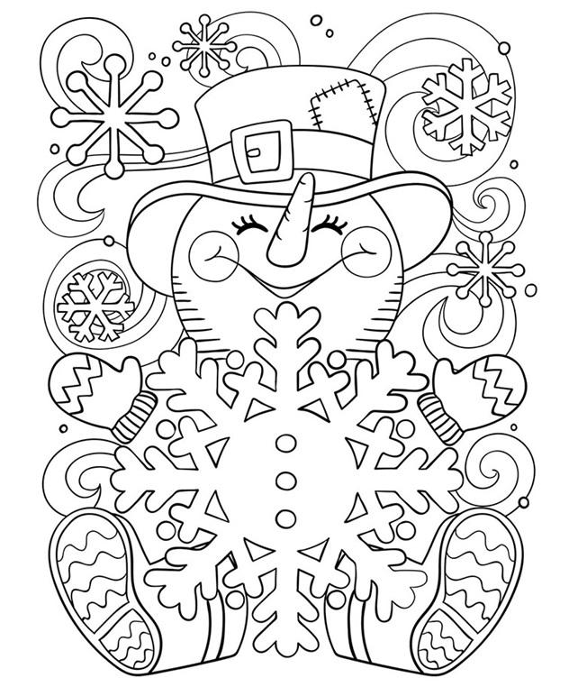 Happy Little Snowman Coloring Page | crayola.com