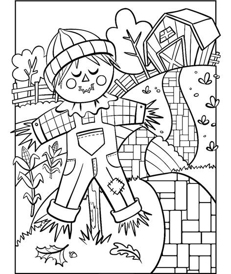 Scarecrow Coloring Page | crayola.com