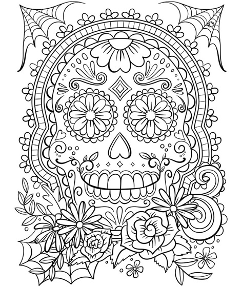 sugar skull coloring pages for adults Sugar Skull Coloring Page | crayola.com sugar skull coloring pages for adults