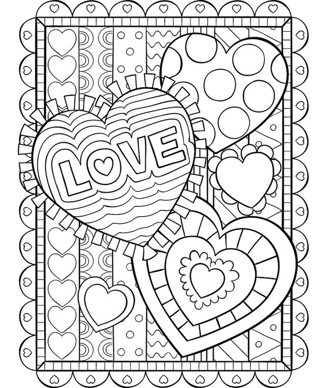 Valentine Hearts Coloring Page | crayola.com