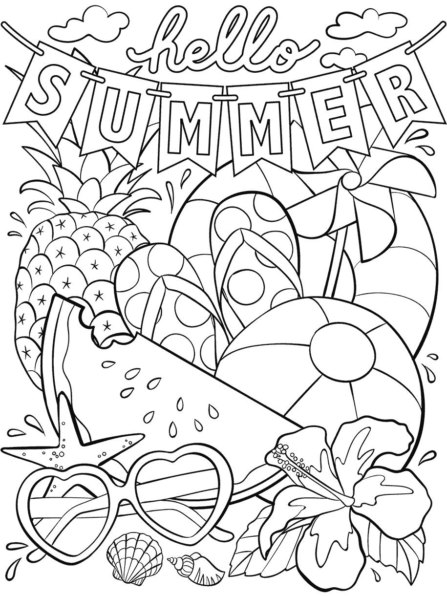 - Hello Summer Coloring Page Crayola.com
