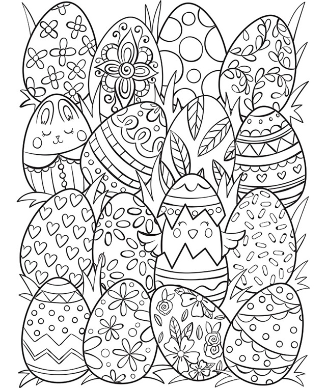Easter Eggs Surprise Coloring Page | crayola.com