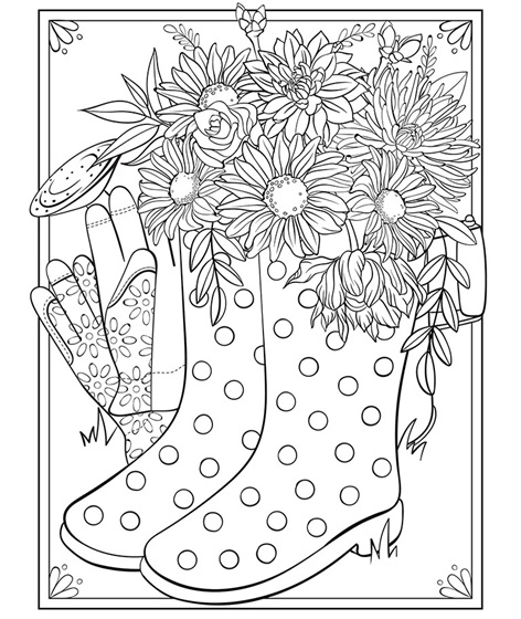 Spring Boots Coloring Page crayola
