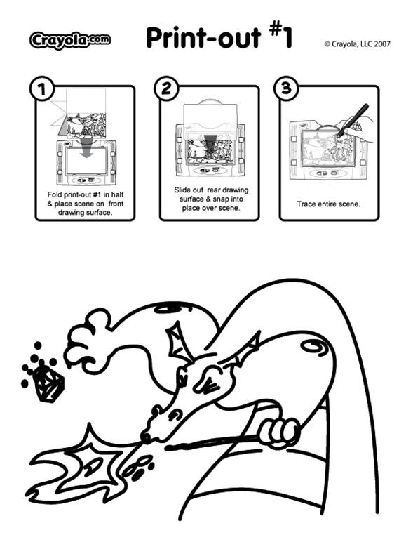See thru light designer scene dragon sneeze coloring page