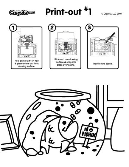 See-Thru Light Designer Scene - Fish Bowl Coloring Page | crayola.com