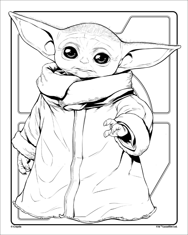 Grogu Baby Yoda Crayola.com