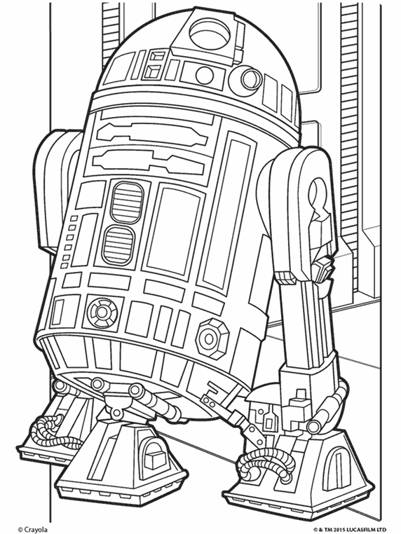 Star Wars R2D2 Coloring Page crayola
