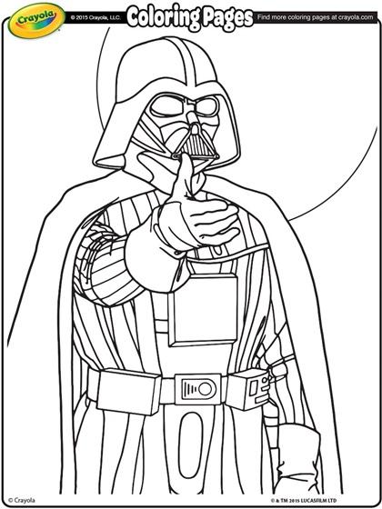 star wars coloring pages darth vader Star Wars Darth Vader Coloring Page | crayola.com star wars coloring pages darth vader